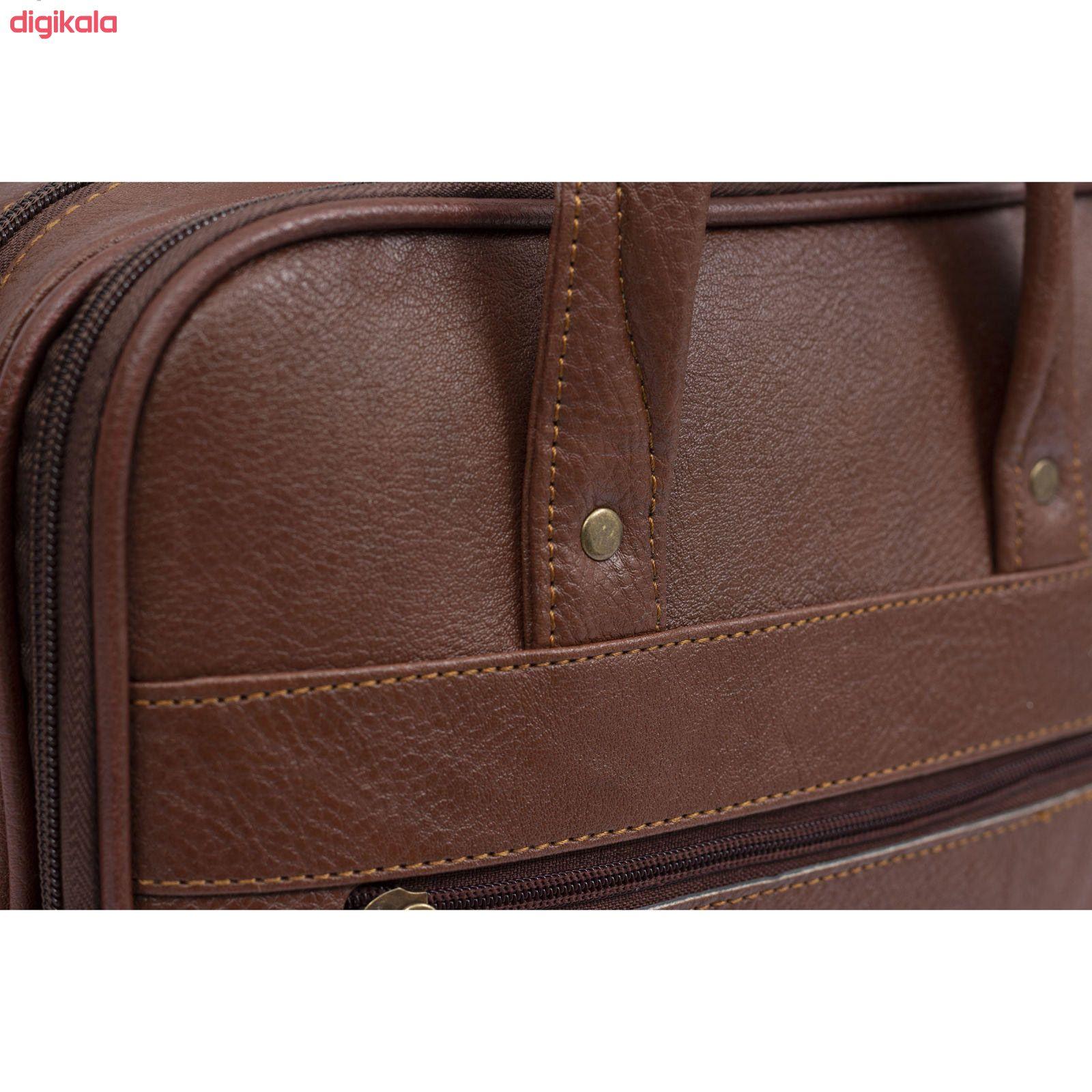 کیف اداری مردانه چرم ما مدل SH main 1 3