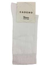 جوراب زنانه کادنو کد CAL1001 رنگ سفید -  - 1