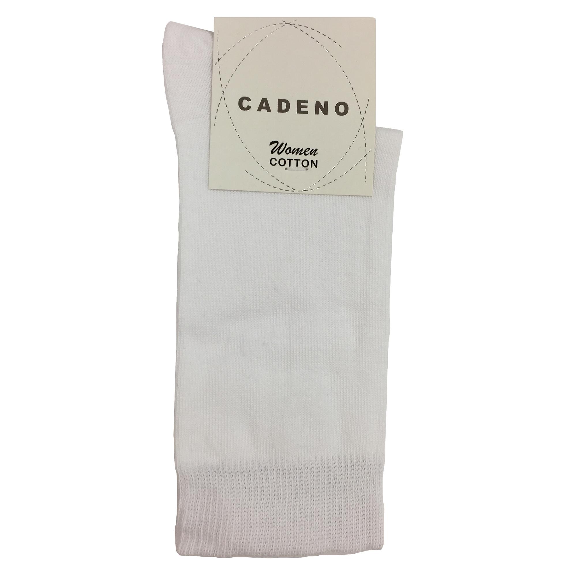 جوراب زنانه کادنو کد CAL1045 رنگ سفید بسته 3 عددی -  - 3