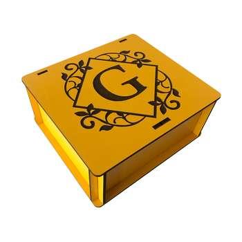 جعبه هدیه چوبی مدل j126