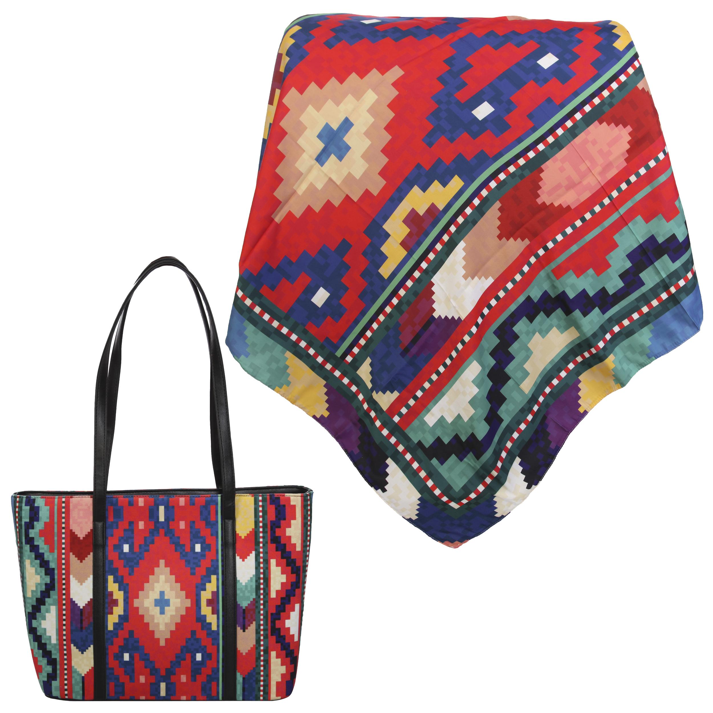 ست کیف و روسری زنانه کد 980826-T1