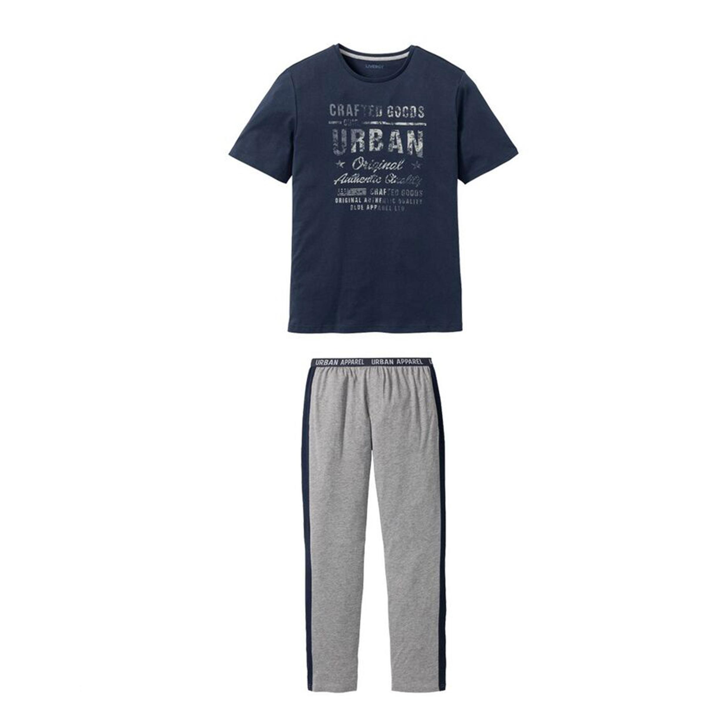 ست تی شرت و شلوار مردانه لیورجی مدل 3446732 رنگ سرمه ای