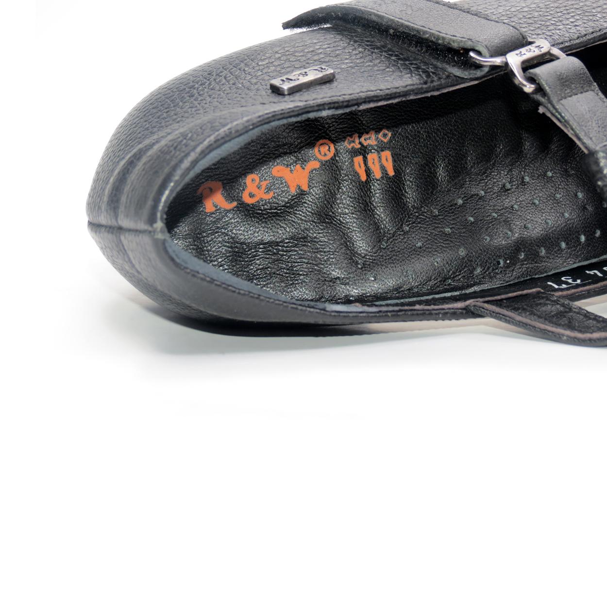 کفش زنانه آر اند دبلیو مدل 454 رنگ مشکی -  - 9