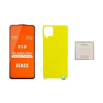 محافظ صفحه نمایش و پشت گوشی مدل F21 BP LPto مناسب برای گوشی موبایل سامسونگ Galaxy A12 به همراه محافظ لنز دوربین