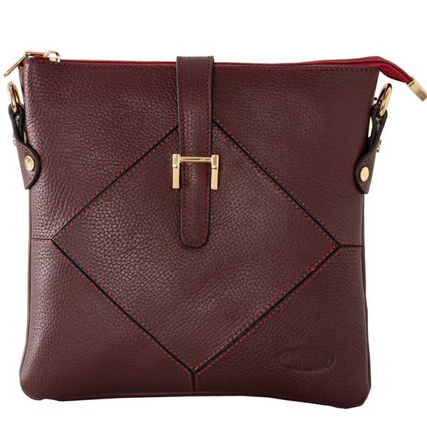 کیف دوشی زنانه پارینه چرم مدل plv222-12