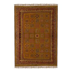 گلیم فرش دستباف چهار متری طرح خشتی مدل H52