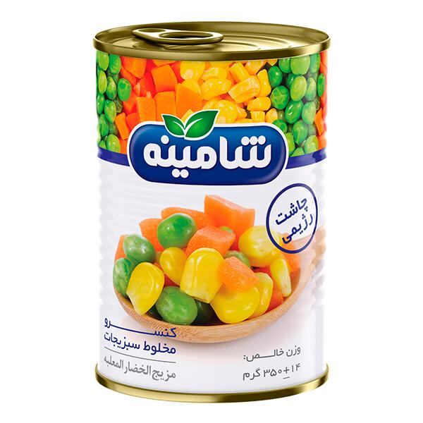 کنسرو مخلوط سبزیجات شامینه - 350 گرم