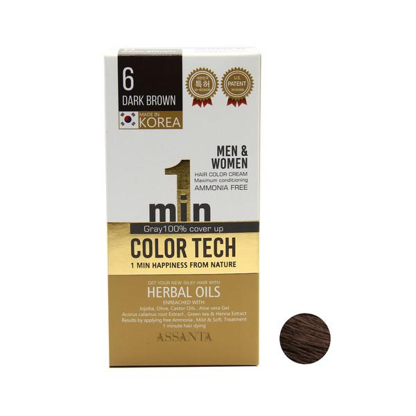 کیت رنگ مو آسانتا شماره 6 حجم 60 میلی لیتر رنگ قهوه ای تیره