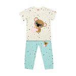 ست تی شرت و شلوارک دخترانه مادر مدل 2041103-54