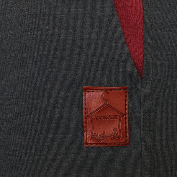 ست تی شرت و شلوار مردانه لباس خونه کد 990506 رنگ زرشکی