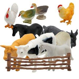 فیگور حیوانات مدل مزرعه مجموعه 14 عددی