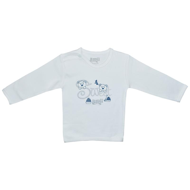 ست تی شرت و شلوار نوزادی باولی مدل خرس و قایق