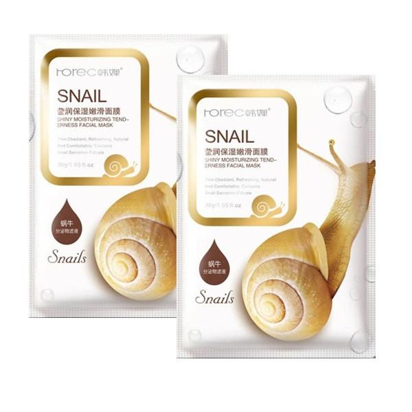 ماسک صورت رورک مدل Snail وزن 30 گرم مجموعه 2 عددی