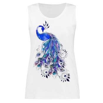 تاپ زنانه طرح طاووس کد 2116
