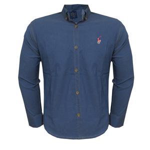 پیراهن آستین بلند مردانه کد CLF-B3-MH-9904 رنگ آبی
