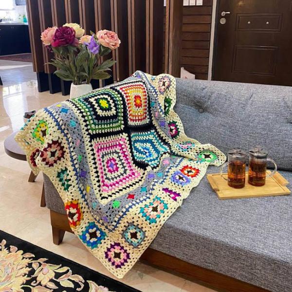 شال مبل و تخت مدل x12 سایز 120×120 سانتیمتر