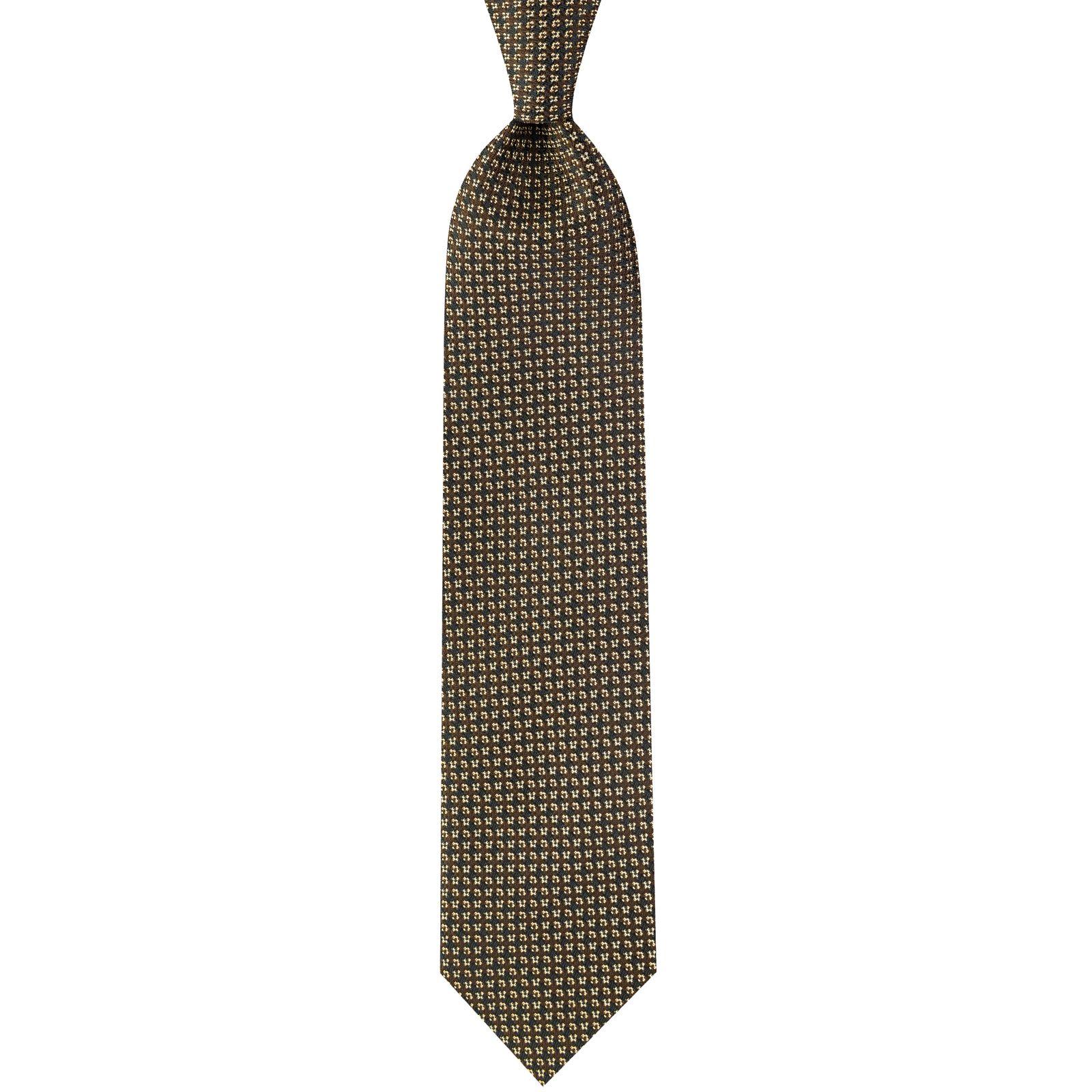 ست کراوات و دستمال جیب و گل کت مردانه جیان فرانکو روسی مدل GF-PO931-BR -  - 4
