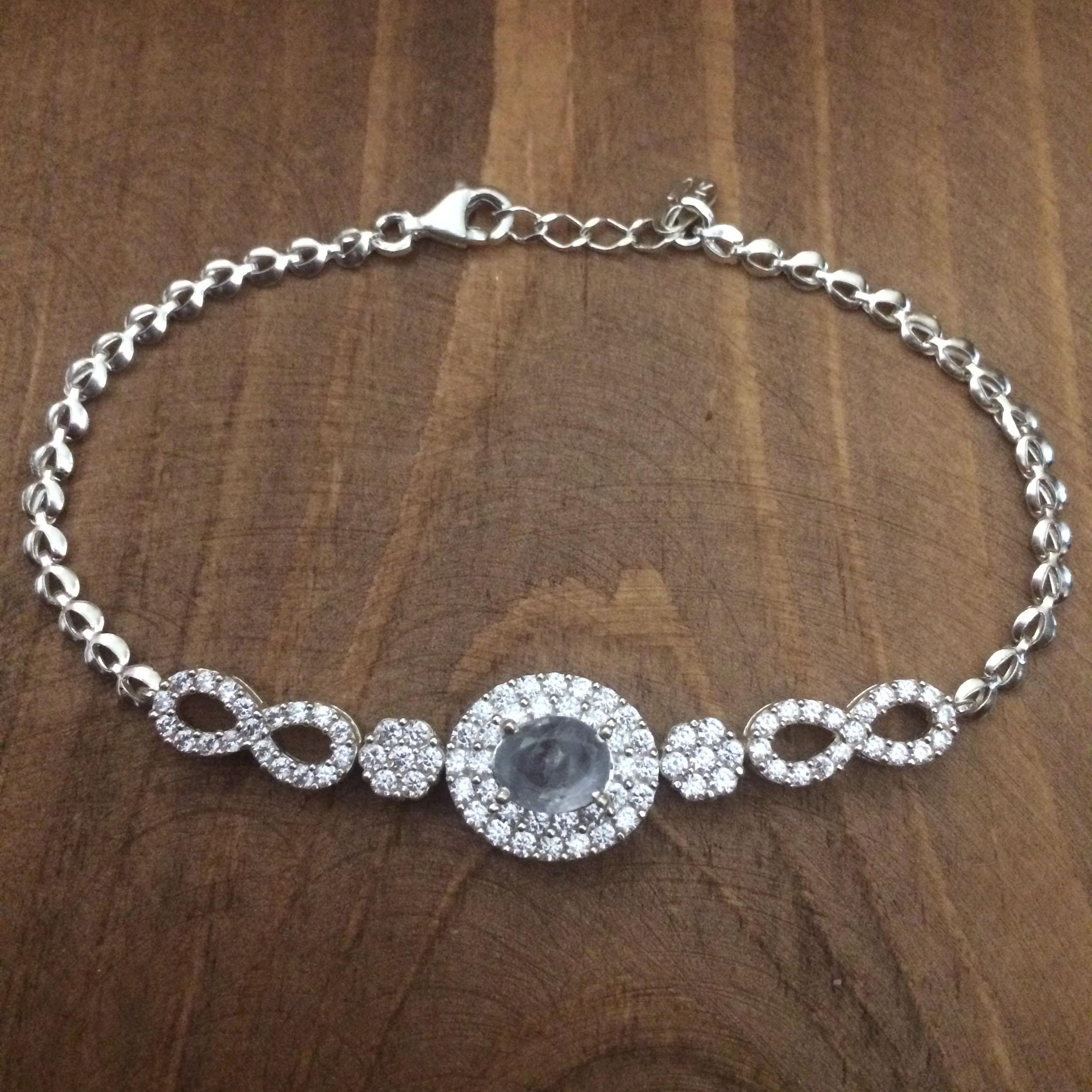 دستبند نقره زنانه  کد 3037