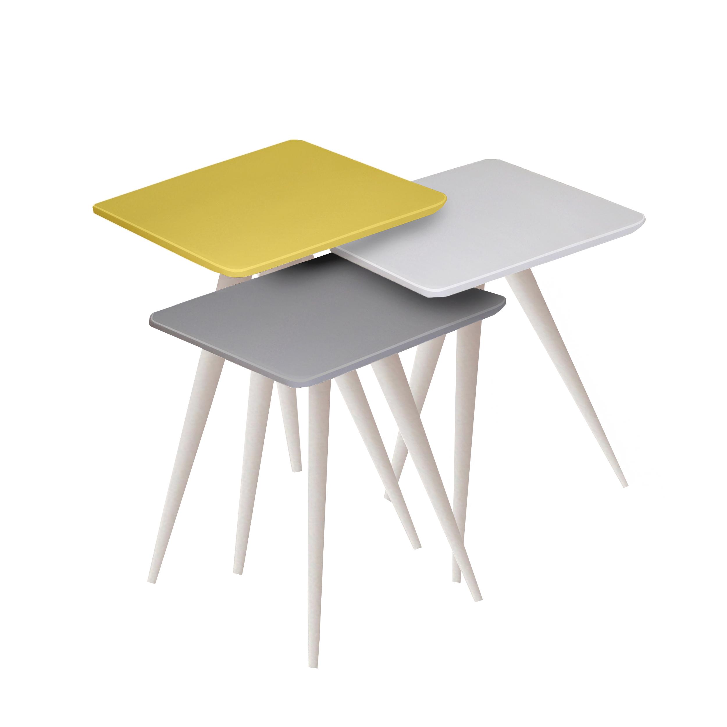 قیمت                      میز عسلی مدل 123 کد 13 مجموعه 3 عددی