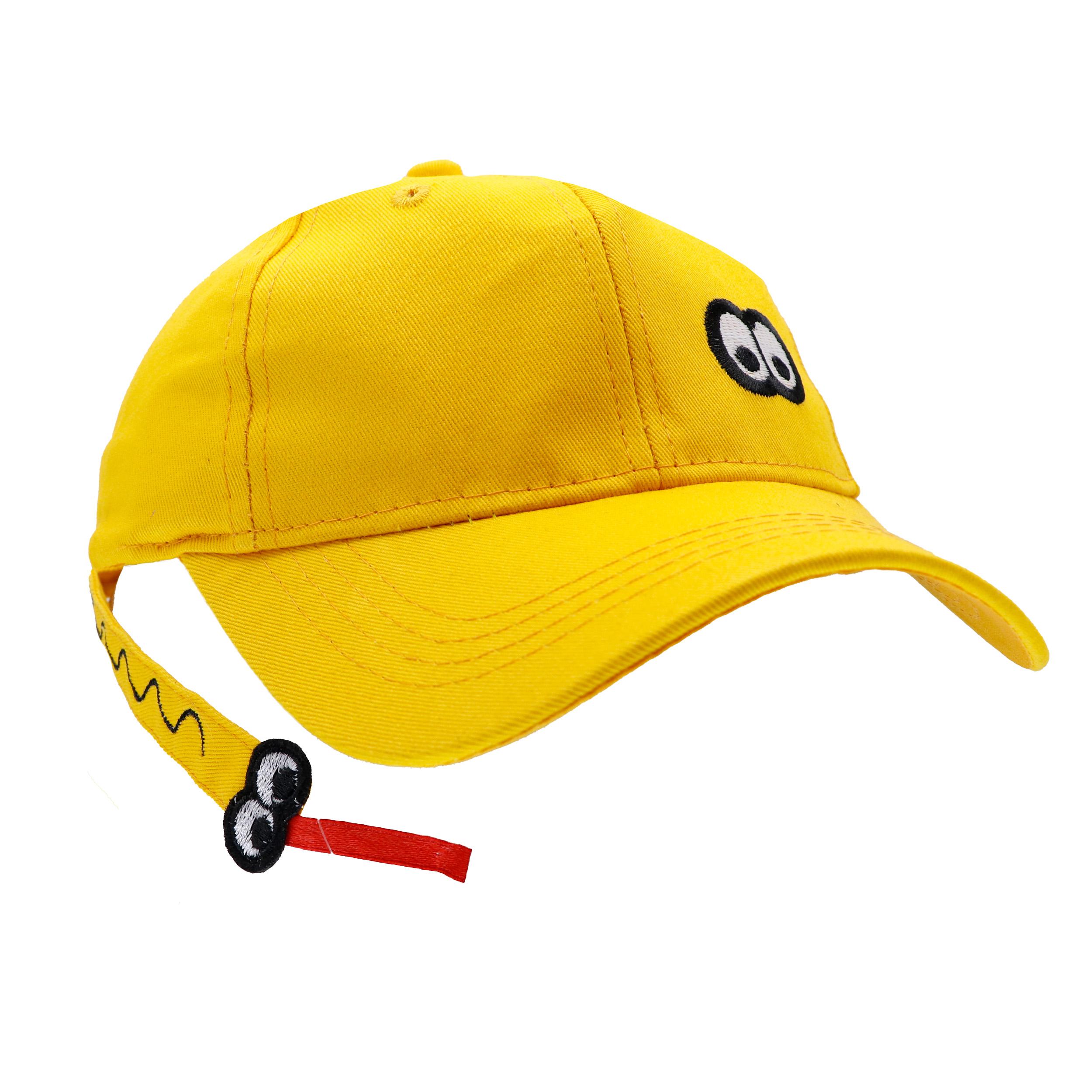 کلاه کپ بچگانه طرح LIN-CHESH رنگ زرد