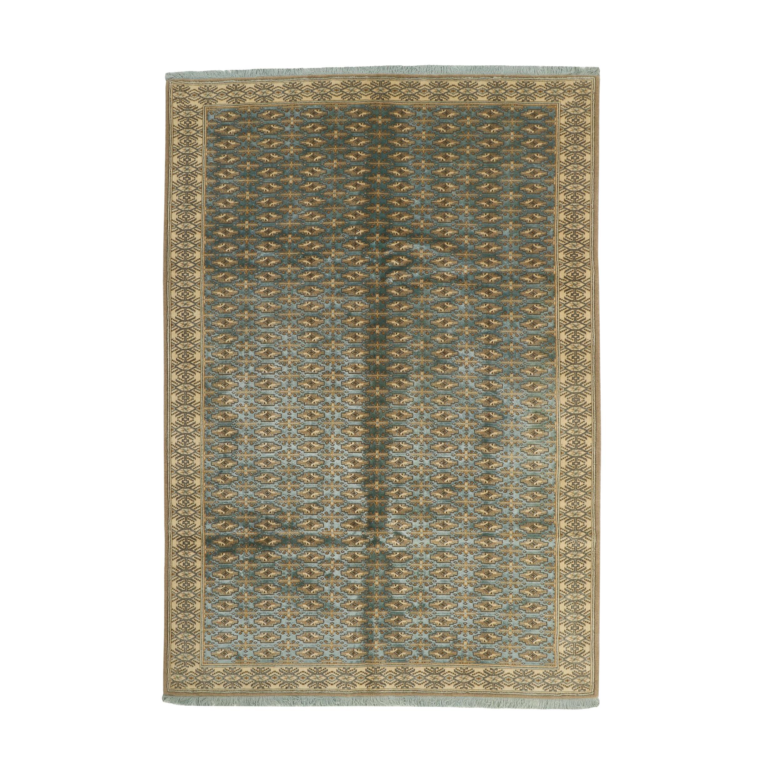 فرش نیمه دستبافت شش و نیم متری مدل گل ابریشم کد 542893