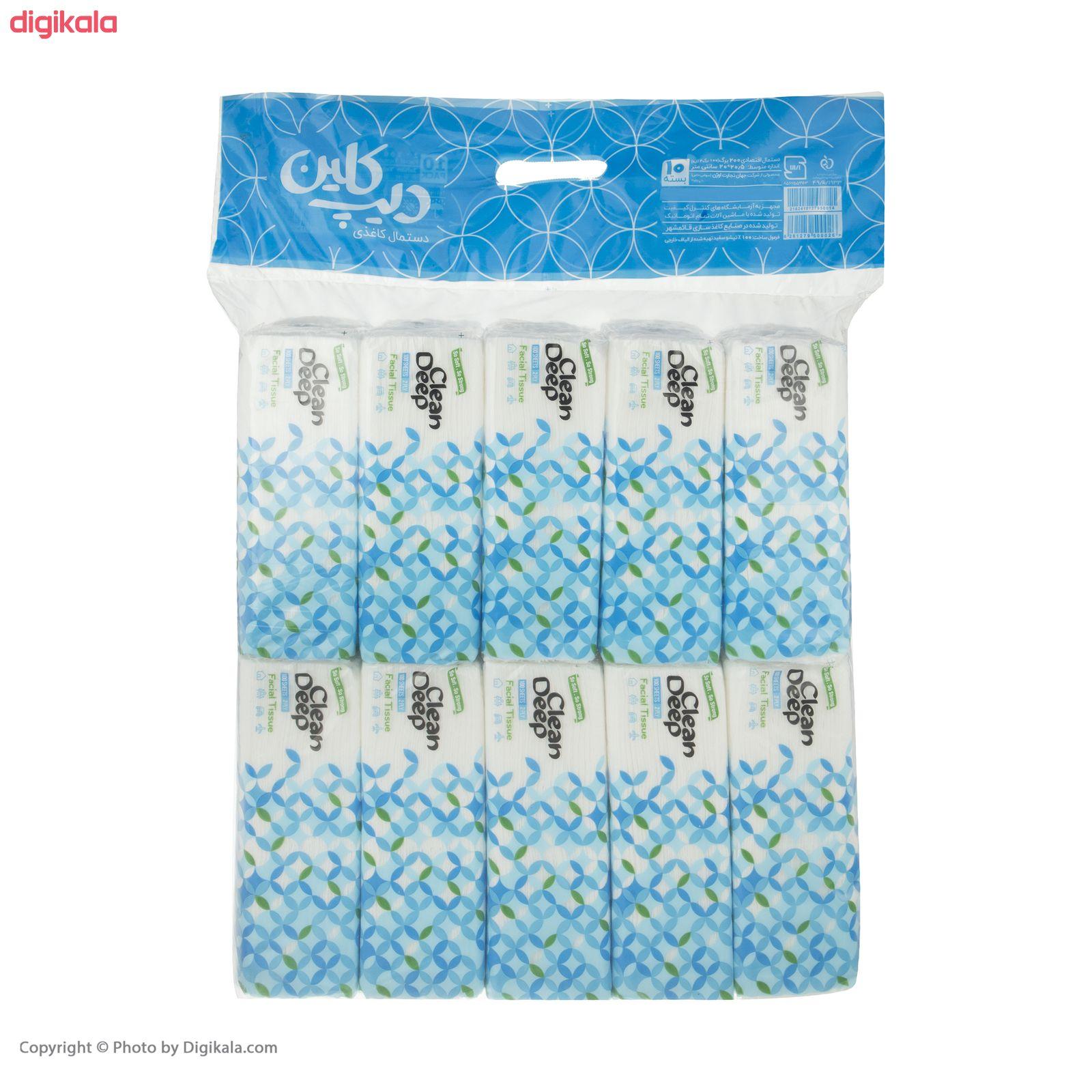 دستمال کاغذی 100 برگ دیپ کلین مدل 01 بسته 10 عددی main 1 5