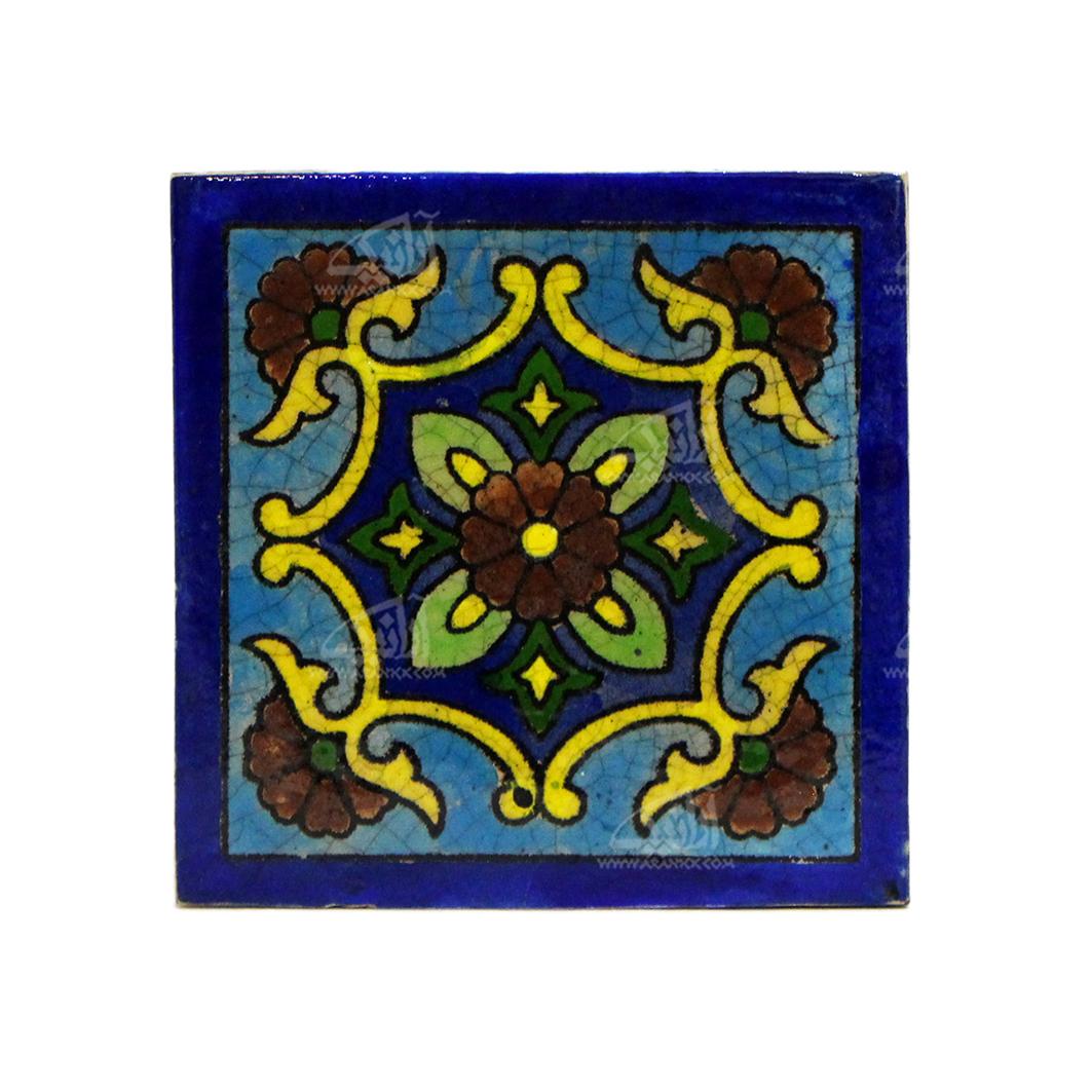 کاشی هفت رنگ  طرح چهار گل مدل 1118800007