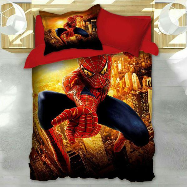 سرویس خواب مدل مرد عنکبوتی یک نفره 4 تکه