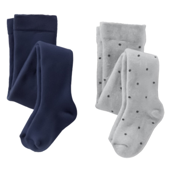 جوراب شلواری دخترانه چیبو مدل Dot5489 مجموعه 2 عددی