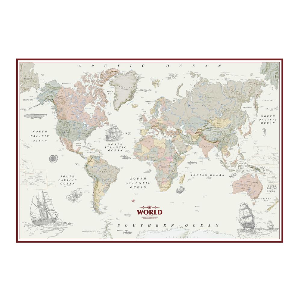 نقشه کشورهای جهان گیتاشناسی نوین کد 2001