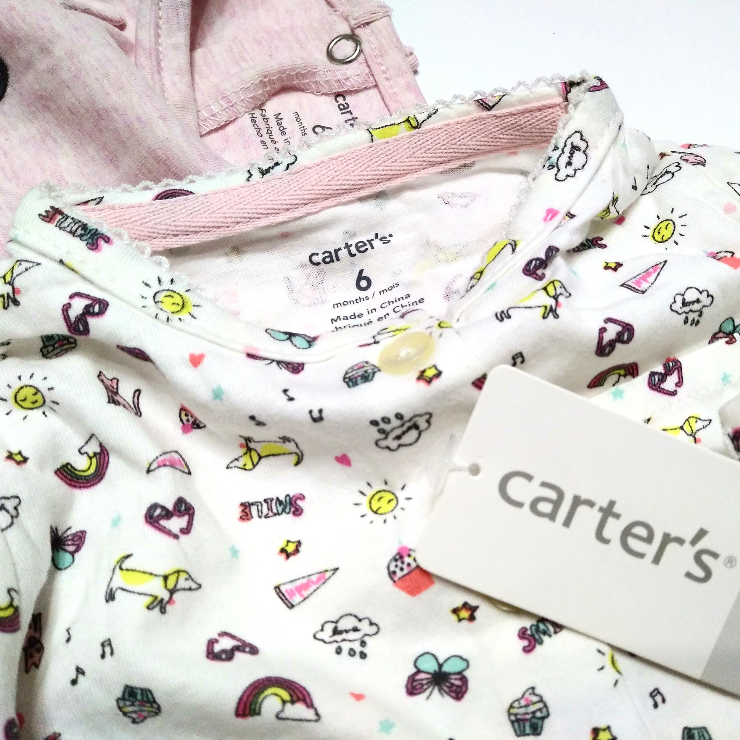 ست کت و پیراهن نوزادی دخترانه کارترز طرح گربه کد M437 -  - 6