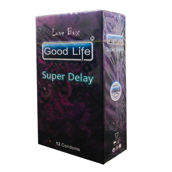 کاندوم گودلایف مدل SUPER DELAY کد GO10 بسته 12 عددی