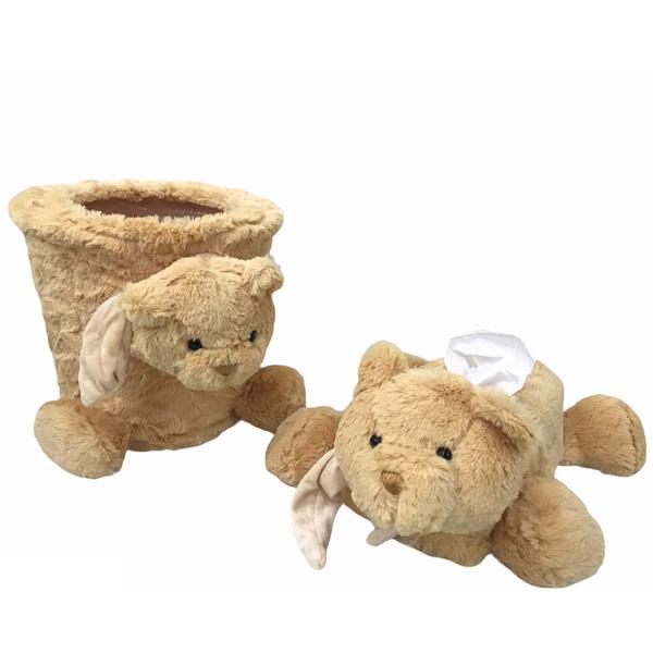 ست سطل و جادستمال کاغذی اتاق کودک مدل خرس کد 01