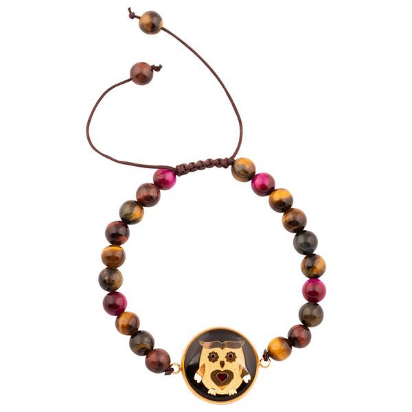 دستبند زنانه الون طرح جغد کد TIG102