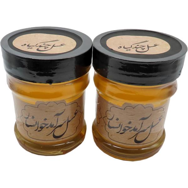 عسل طبیعی چند گیاهسرآمد  - 400 گرم بسته 2 عددی