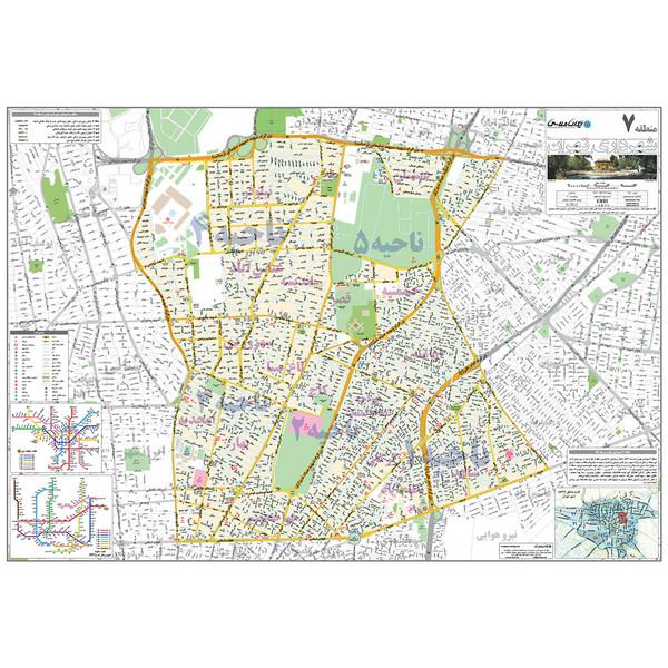 نقشه انتشارات ایرانشناسی مدل منطقه 7 شهرداری تهران کد 407
