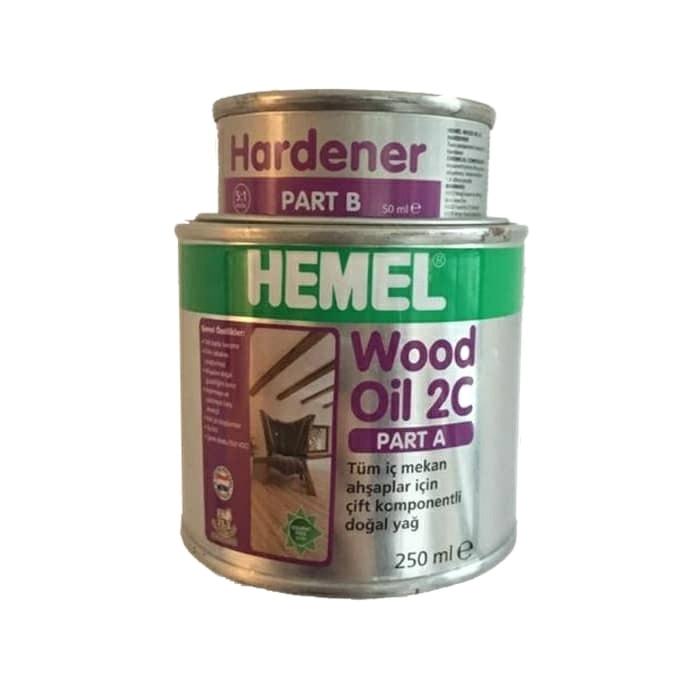 قیمت                                      روغن رنگی چوب همل مدل 2c حجم 300 میلی لیتر