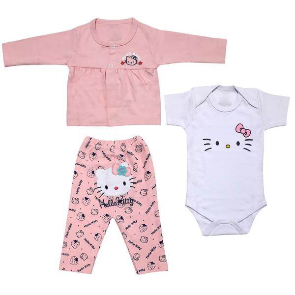 ست 3 تکه لباس نوزادی دخترانه کد 49