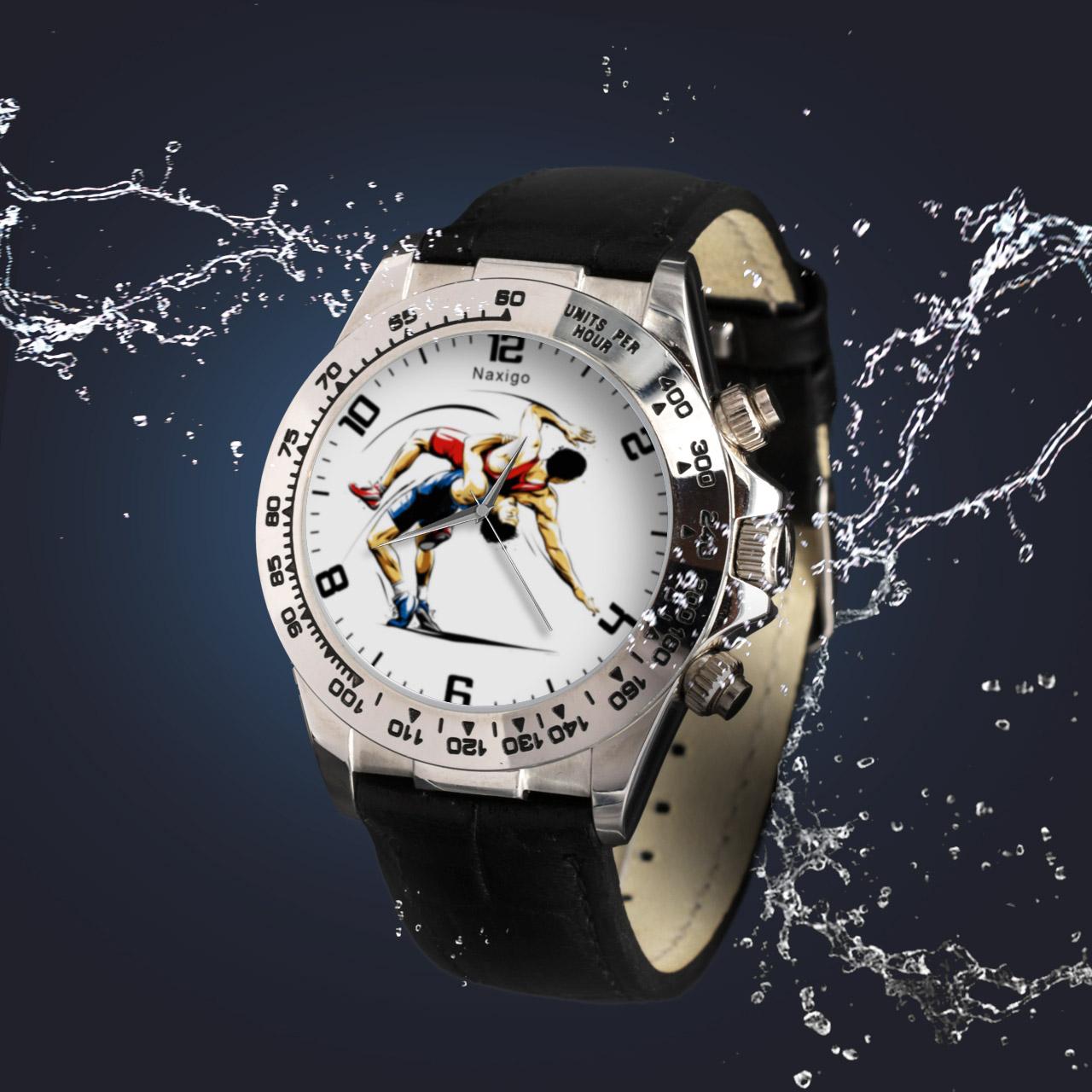 ساعت مچی  مردانه ناکسیگو طرح کشتی گیری کد LS3552