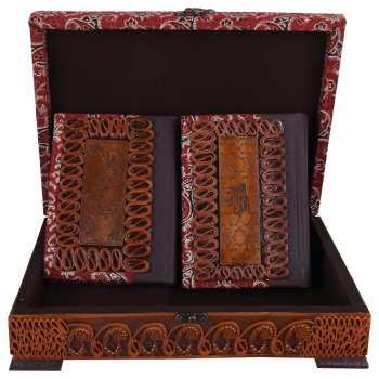 جعبه و کتابهای قرآن کریم و مفاتیح الجنان مدل 00 -10 سایز متوسط
