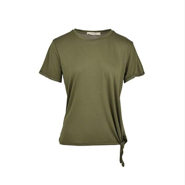 تی شرت آستین کوتاه زنانه بادی اسپینر مدل 1403 کد 1 رنگ سبز