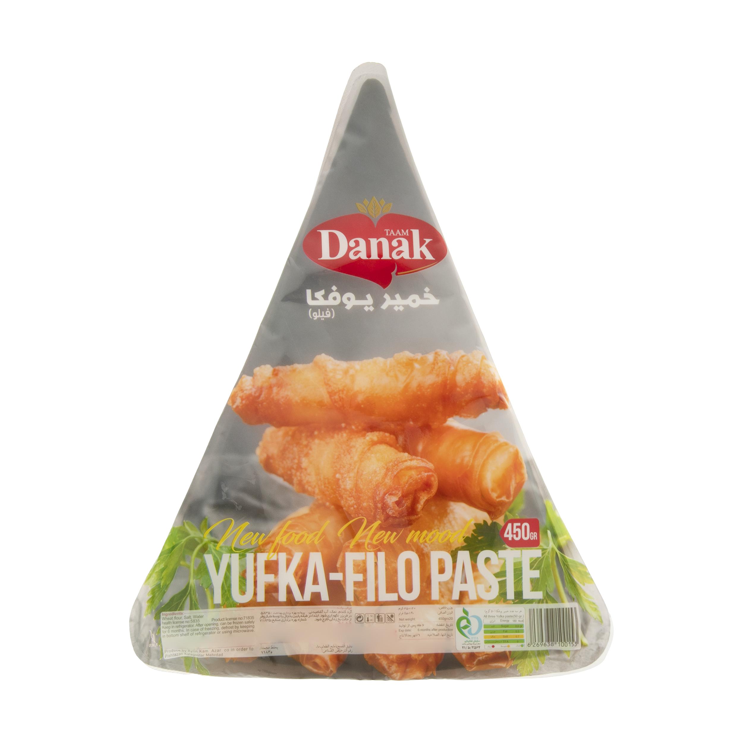 خمیر یوفکا مثلثی داناک - 450 گرم