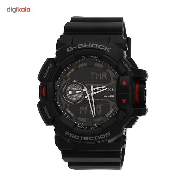 خرید ساعت مچی عقربه ای مردانه کاسیو جی شاک مدل GA-400-1BDR | ساعت مچی