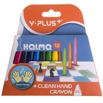 مداد شمعی 12 رنگ وای پلاس مدل Halma