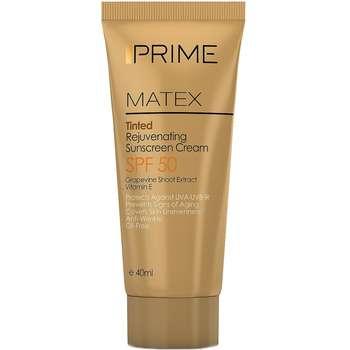 کرم ضد آفتاب جوان کننده پریم مدل Matex Tinted SPF50