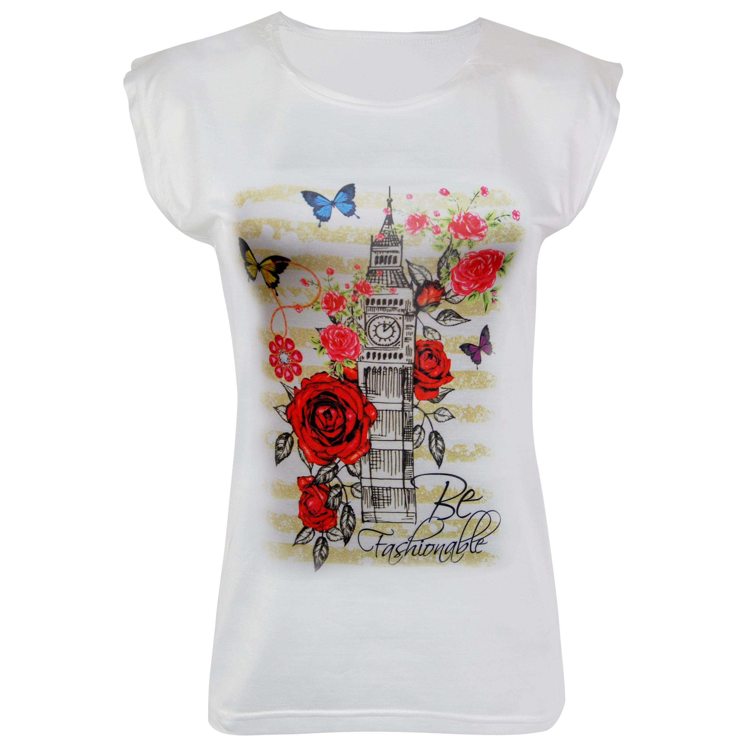 تی شرت زنانه ماییلدا مدل 3522-14