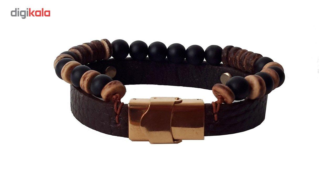 دستبند چرمی مانی چرم مدل BL-143 سایز L -  - 2