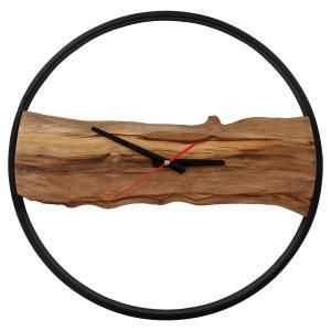 ساعت دیواری چوبی طرح روستیک مدل CH104