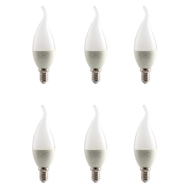 لامپ ال ای دی 5 وات البو مدل شعله ای پایه E14  بسته 6 عددی