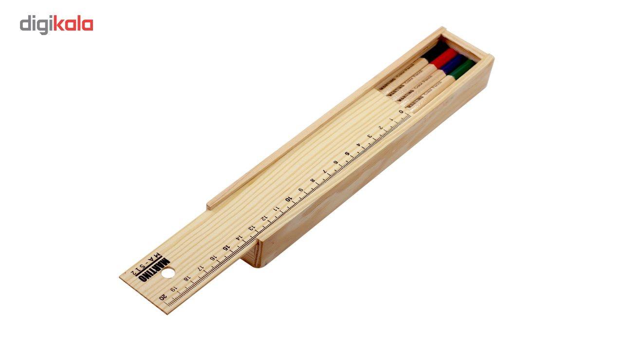 مداد رنگی 12 رنگ مارتینو مدل MA-512 main 1 1